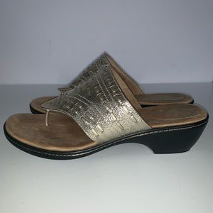 Rockport Adiprene by Adidas Gold Sandals Size 8